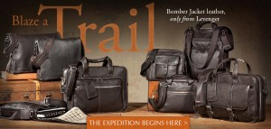 Bomber leather - Homepage web banner