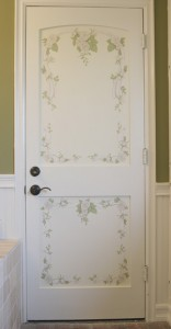 Floral painted door