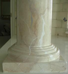 Detail - marble column base