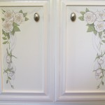 Detail - floral painted door