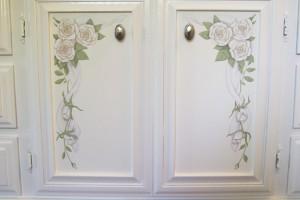 Detail - floral painted door