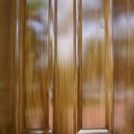Detail - faux wood grain on metal door