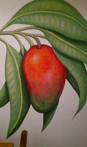 Mango mural detail