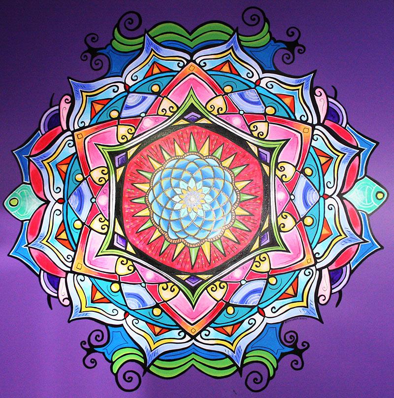 Mandala mural complete kristin currier ludlow for Mural mandala