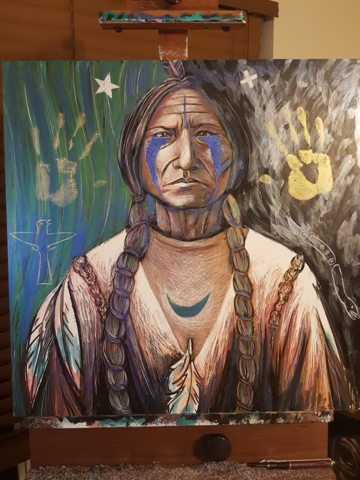 """Ghost Dancer"" stands with Standing Rock"