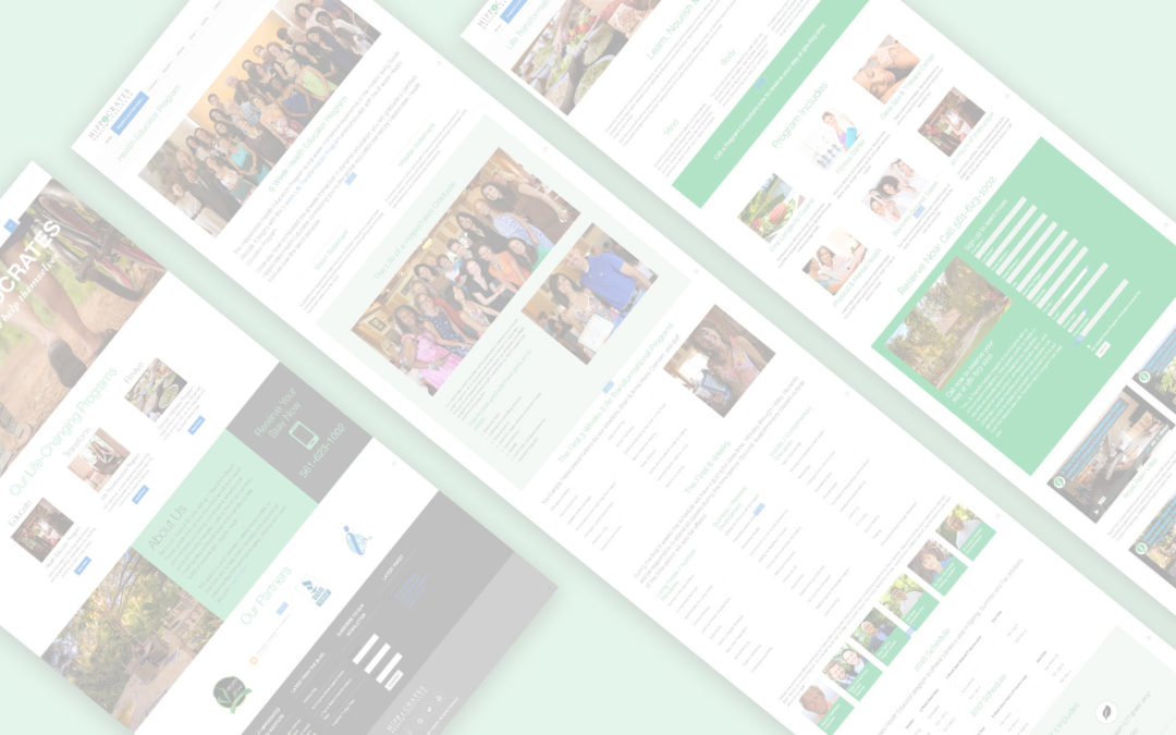 UX / UI Hippocrates Health Institute Redesign